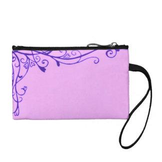 Púrpura Amethyst del vintage de las vides florales