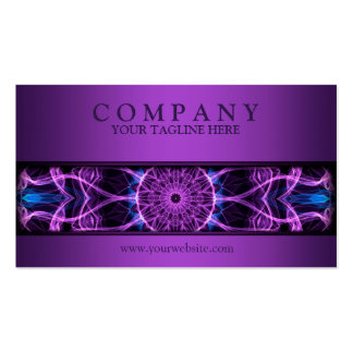 púrpura Amethyst moderna de la mandala del deseo Tarjetas De Visita