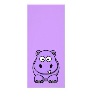 "púrpura amistosa adorable linda del dibujo animado folleto publicitario 4"" x 9"""