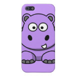 púrpura amistosa adorable linda del dibujo animado iPhone 5 cárcasas