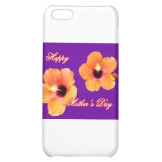 Púrpura anaranjada BG de madre del hibisco feliz d