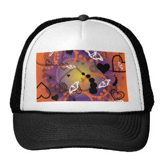 Púrpura anaranjada de la esfera abstracta de la ma gorros bordados