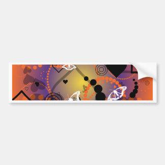 Púrpura anaranjada de la esfera abstracta de la ma pegatina para auto