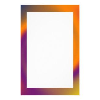 púrpura anaranjada del remolino papelería de diseño