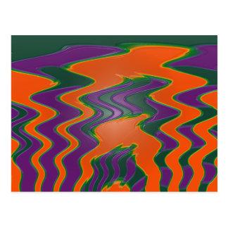 púrpura anaranjada maravillosa postales