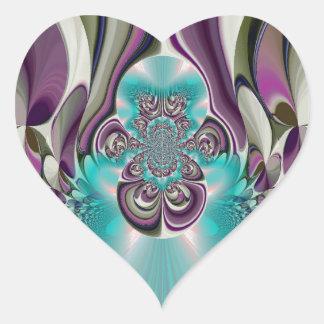 Púrpura angelical Heart.jpg de Hakuna Matata Pegatina En Forma De Corazón