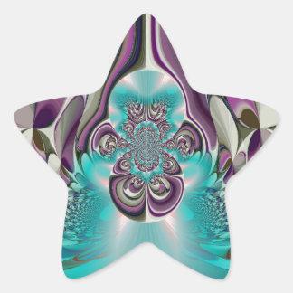 Púrpura angelical Heart.jpg de Hakuna Matata Pegatina En Forma De Estrella