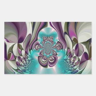 Púrpura angelical Heart.jpg de Hakuna Matata Pegatina Rectangular