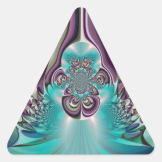 Púrpura angelical Heart.jpg de Hakuna Matata Pegatina Triangular