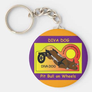 Púrpura animada del logotipo del PERRO de la DIVA  Llavero Personalizado