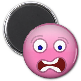 Púrpura asustada imán para frigorifico