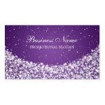 Púrpura atractiva de la chispa de la estrella plantilla de tarjeta personal