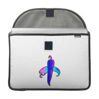 Púrpura azul de dos pimientas funda para macbooks