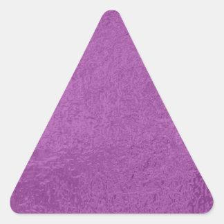 Púrpura azul de la chispa n del satén que brilla pegatina triangular