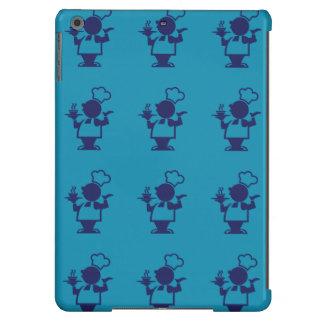 púrpura azul del cocinero funda para iPad air