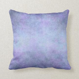 Púrpura, azul del trullo, aguamarina, y acuarela cojín