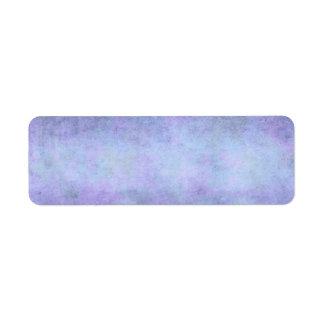 Púrpura, azul del trullo, aguamarina, y acuarela v etiqueta de remite
