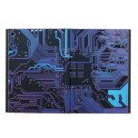 Púrpura azul fresca del ordenador de placa de circ