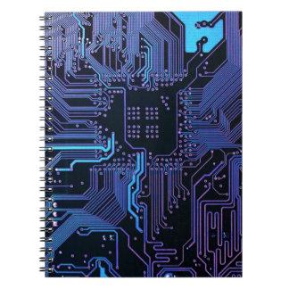 Púrpura azul fresca del ordenador de placa de circ cuaderno