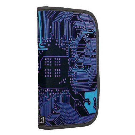 Púrpura azul fresca del ordenador de placa de circ organizadores