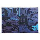 Púrpura azul fresca del ordenador de placa de circ manteles