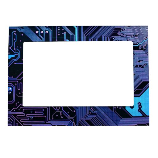 Púrpura azul fresca del ordenador de placa de circ marcos magneticos para fotos
