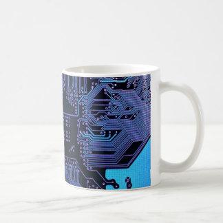 Púrpura azul fresca del ordenador de placa de circ taza de café