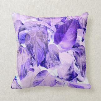 púrpura azul invertida pothos de la planta cojín decorativo