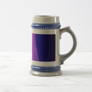 Púrpura azul negra jarra de cerveza