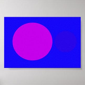 Púrpura azul póster