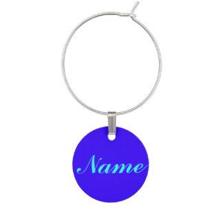 Púrpura azul su etiqueta conocida de la etiqueta d identificador de copa