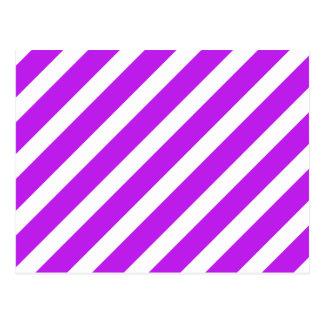 Púrpura básica de la raya 1 postal