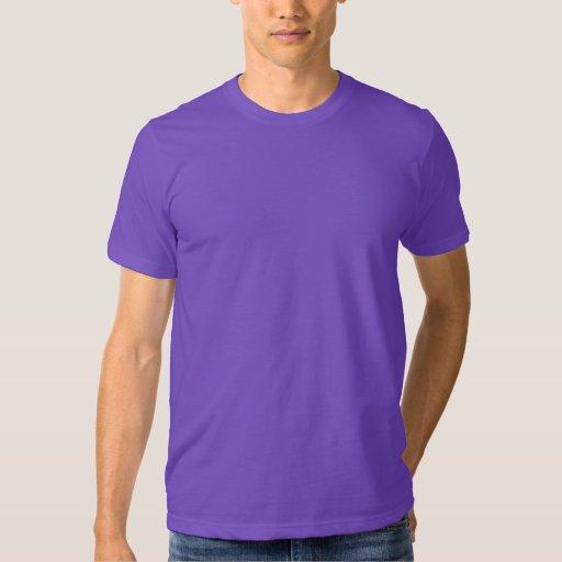 Púrpura básica unisex de la camiseta de American Playera