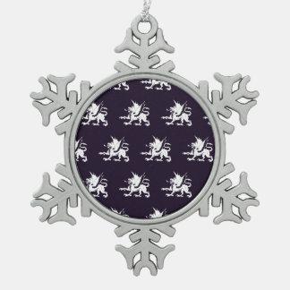 Púrpura blanca de los dragones adornos