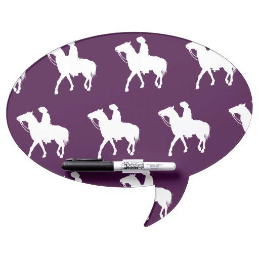 Púrpura blanca del vaquero pizarra blanca