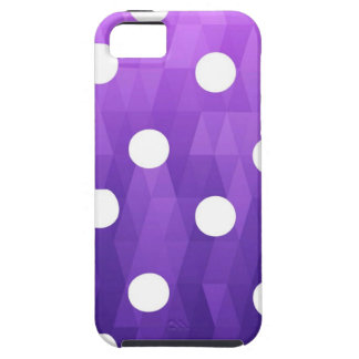 Púrpura blanca grande de los lunares vivos por iPhone 5 Case-Mate funda