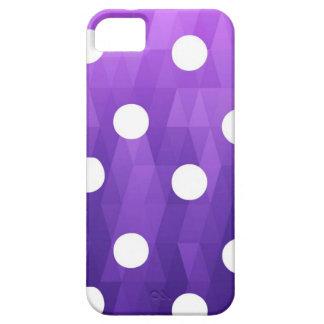 Púrpura blanca grande de los lunares vivos por iPhone 5 fundas