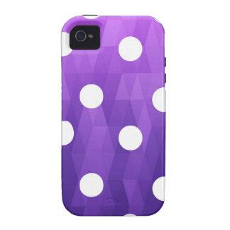 Púrpura blanca grande de los lunares vivos por iPhone 4/4S funda