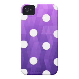 Púrpura blanca grande de los lunares vivos por iPhone 4 Case-Mate carcasa