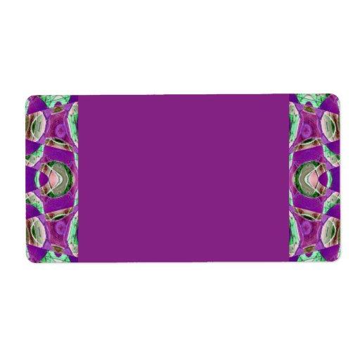 púrpura bonita etiquetas de envío