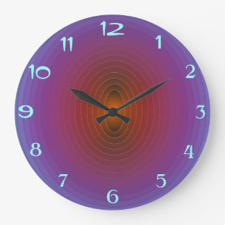 Púrpura brillante/Aqua> WallClock modelado Fractua Reloj De Pared