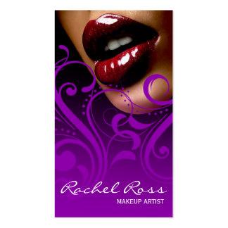Púrpura brillante deliciosa de Curliques el | de l Plantilla De Tarjeta De Negocio