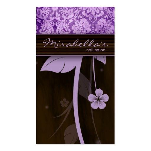 Púrpura Brown del damasco de la tarjeta de visita
