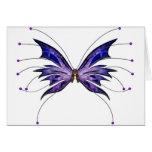 Púrpura butterfyly tarjetas