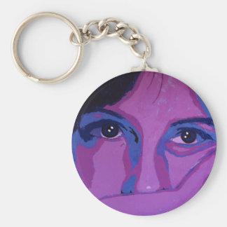 Púrpura cambiante llaveros personalizados