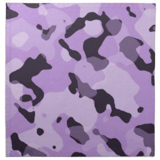 Púrpura Camo de la lavanda; Camuflaje Servilleta De Papel