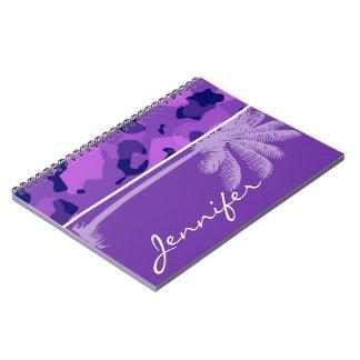Púrpura Camo de la uva; Palma del verano Libretas