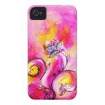 Púrpura CAPRICHOSA del amarillo del rosa de las FL Case-Mate iPhone 4 Funda