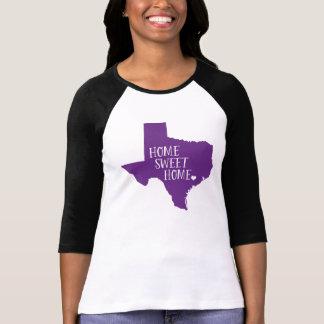 Púrpura casera dulce casera de Tejas Camisas