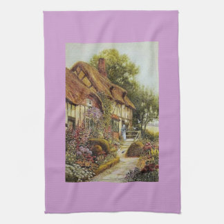 Púrpura casera dulce casera Kitc de la cabaña del  Toalla
